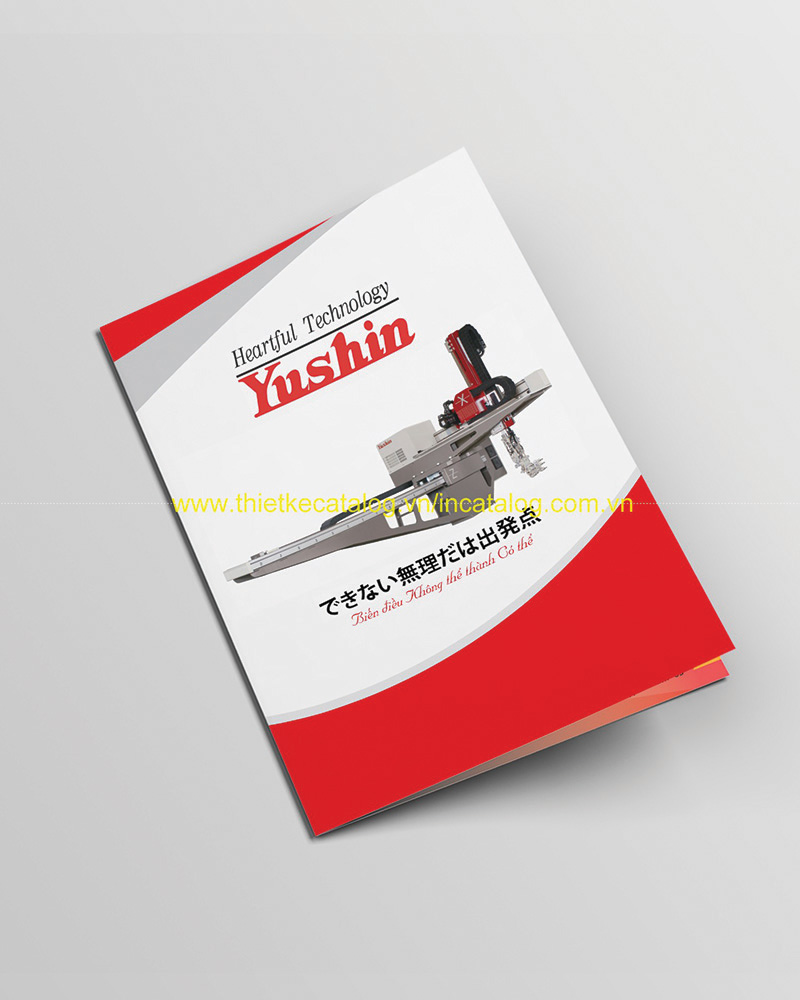 Mẫu in catalogue Robot Yushin